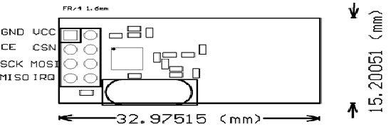 wireless nrf24l01 + 2.4 ghz transceiver modül - 2.4 ghz alıcı verici modül boyutları